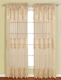 Priscilla Curtains With Attached Valance by Nice Lace Curtains With Attached Valance At Curtain Decoration