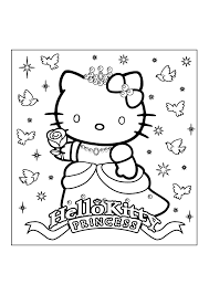 Full Image For Hello Kitty Coloring Pages Free To Print Christmas