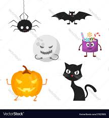 Characters For Halloween by Set Of Characters For Halloween Royalty Free Vector Image