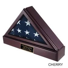 Officers Flag Display Case Pedestal