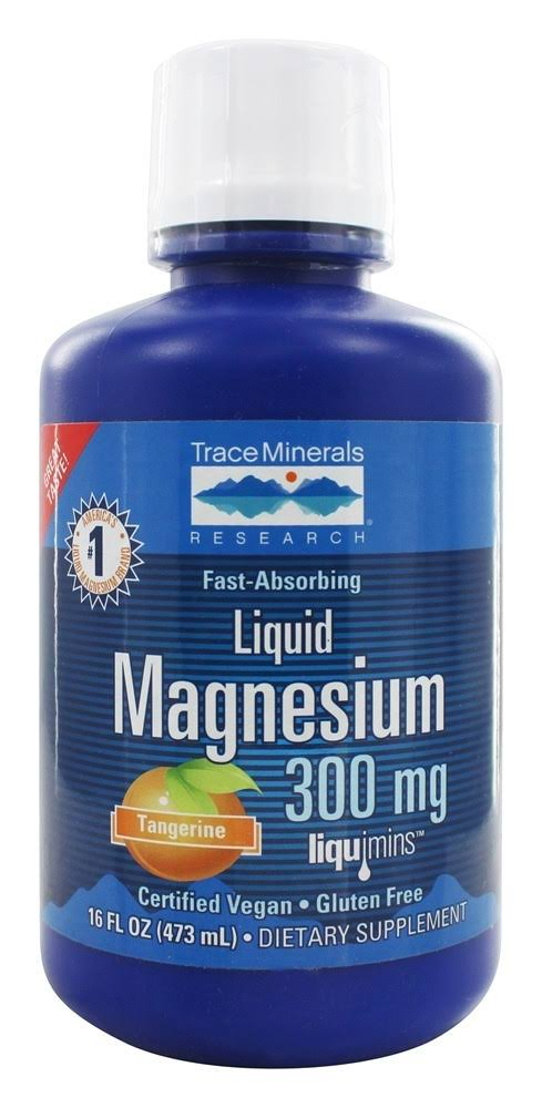Trace Minerals Research Liquid Magnesium 300Mg Dietary Supplement - 473ml
