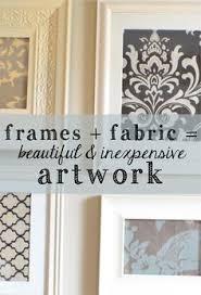 Wooden Framed Diy Fabric Wall Art Inexpensive Artwork Beautiful Useful Own Creation Stuffs