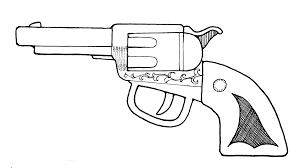 Rifle clipart black and white 3