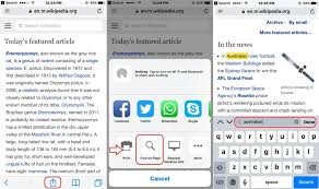 How to search text from safari webpage on iPhone iPad iOS 10
