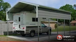 2 Car Carport Vertical Roof 18 x 21