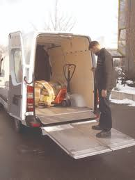 Leyman Manufacturing Corp. External Sprinter Van Lift Gate In Work ...
