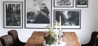 interior esszimmer bilderwand mit naturpostern by poster store