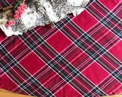 Christmas Tree Skirts Large Skirt Plaid Red Tartan 58 Inch