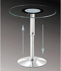 concept glas 86 glastisch rund höhenverstellbar beistelltisch 60 cm klarglas esg