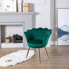 wahson sessel für schlafzimmer weicher samt armlehnstuhl mit vergoldeten metallbeinen freizeitsessel für wohnzimmer vanity grün