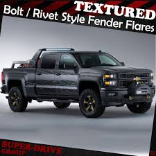 Pocket-Riveted Textured Fender Flares For 2007-2014 Chevy Silverado ... Lifted Chevrolet Silverado 1500 Alpine Luxury Edition Rocky Lund Intertional Bushwacker Products F 2014 W Zone 65quot Lift Kits On 20x10 Wheels Putco Stainless Steel Fender Trim 97296 1617 Bushwacker Cost To Install Oem Flares Ford F150 Forum Community Of 62018 Chevy Egr Painted 791574gan 1091907 Flat Style Matte Black Front And Rear Dodge For Trucks Jeeps Suvs Universal Custom Fit Flares Or Mud Flaps