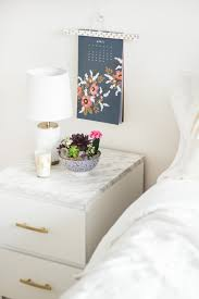 Ikea Malm White Office Desk by Ikea Hacks 50 Nightstands And End Tables Ikea Hack Nightstands