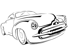 Click To See Printable Version Of Classic Car Coloring Page