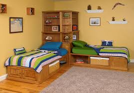 The Best Saving Space of Twin Beds with Corner Unit Design — TEDX