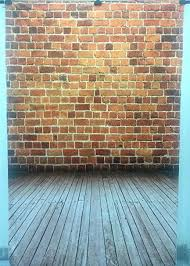 SUSU 5x7ft Red Brick Wall Photography Backdrops Vintage Rustic Background Wooden Floor Studio For Photographer