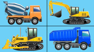 100 Kids Dump Trucks Learning To Count Construction Vehicles Counting Bulldozers Excavators For