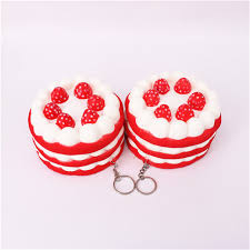 jeux de cuisine de aux fraises 11 cm pvc visqueux fraise gâteau cuisine jouet doux simulation