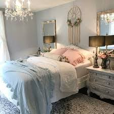 blau rosa kissen schlafzimmer shabby chic design dekor