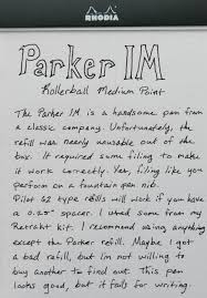 Parker IM Roller Ball Review
