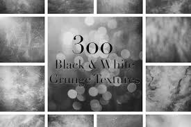 300 High Resolution Black And White Grunge Textures