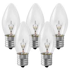 c9 clear replacement bulb 7 watt 130 volt