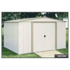 Arrow Woodridge Steel Storage Sheds by Arrow Yardsaver 4x10 Metal Side Shed Kit Ys410