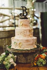 Rustic Wedding Cakes Entrancing Birch Inspired Cake For Fall