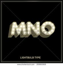 mno lightbulb typefacefont vectorillustration stock vector
