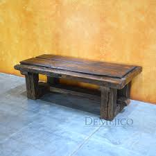 Troje Coffee Table Old Door Rustic Style Antique