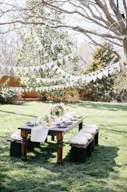 I Love The Streamers In Trees And Dappled Shade Cushions On SeatsBeautiful Garden Party Ideas It