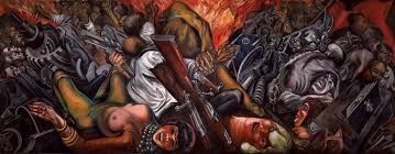 Jose Clemente Orozco Murales by The Clowns Of War Arguing In Hell Jose Clemente Orozco Pinterest