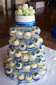 Royal Blue And Silver Wedding Cupcakes