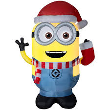 Universal 899ft Lighted Minion Christmas Inflatable At Lowescom
