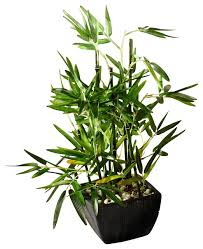 planting bamboo in a pot 18 faux bamboo plant lush artificial bamboo pot river stones