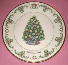 Plate Is Printed In 24K Gold And Contains Identifying Information A Detailed Description Of The History Traditions Surrounding Christmas Trees