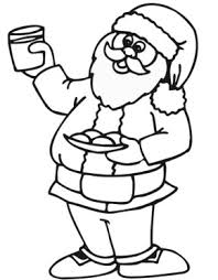 Santa Christmas Eve Coloring Page