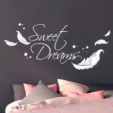 fototapete wandtattoo sweet dreams mit federn und