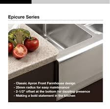 Retrofit Copper Apron Sink by Houzer Epo 3370sr Epicure Series Apron Front Farmhouse Stainless