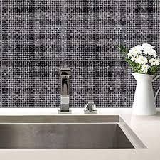 fliesenaufkleber mosaik 03 fliesen fliesensticker aufkleber deko bad küche schwarz grau kacheln wall 15x20 cm 20 er set