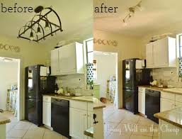 Kitchen Light Before And After
