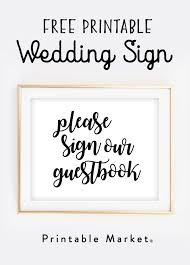 Free Printable Wedding Sign Please Our Guestbook Market