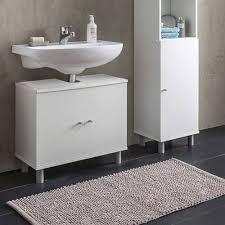 günstiger waschbeckenunterschrank matzourani in weiß