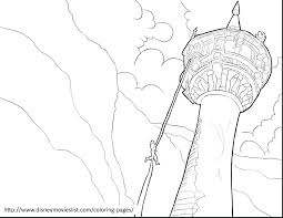 Tangled Coloring Pages Online Disney Rapunzel Games Brilliant Tower Page Print Full Size
