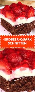 erdbeer quark schnitten