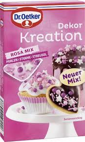 dr oetker dekor kreation rosa mix