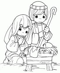 Bible Coloring Pages Christmas Birth Of Jesus 3
