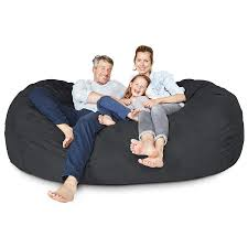 Amazon.com: Lumaland Luxury 7-Foot Bean Bag Chair With Microsuede ... Mind Bean Bag Chairs Canada Tcksewpubbrampton Com Circo Diy Cool Chair Ikea For Home Fniture Ideas Giant Oversized Sofa Family Size Ipirations Cozy Beanbag Watching Tv Or Reading A Book Black Friday Fun Kids Free Child Office Sharper Alert Famous Comfy Kid Lovely Calgary Flames Adorable Purple Awesome Bags Design Ideas