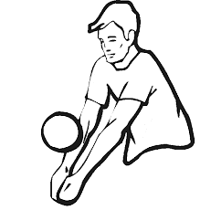 A Mens Volleyball Player Bumps The Ball In This Summer Olympics Coloring Page