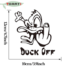 10*12CM Angry Duck Car Bumper Sticker Funny Drift Vinyl Truck Car ... Decals Duck Dog Clothing Co Waterfowl Ebay Commander Dynasty Car Logo Vinyl Decal Sticker Louisiana Sportsman State Deer Fish Hook Fleur De Lis Back Off City Boy Custom Vinyl And Stenciling Cartruckyetilaptop Browning Style Call Wall Hunting Truck Window 7091 Buck Georgia Duck Fish Hook Fleurdelis