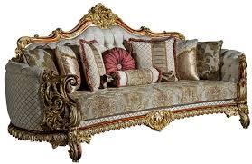 casa padrino luxus barock sofa grau rot gold 270 x 105 x h 128 cm wohnzimmer sofa mit dekorativen kissen edel prunkvoll